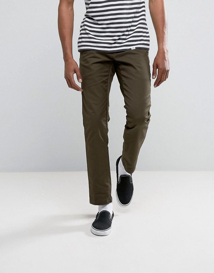 CARHARTT WIP SID TAPERED CHINOS - GREEN. #carhartt #cloth #