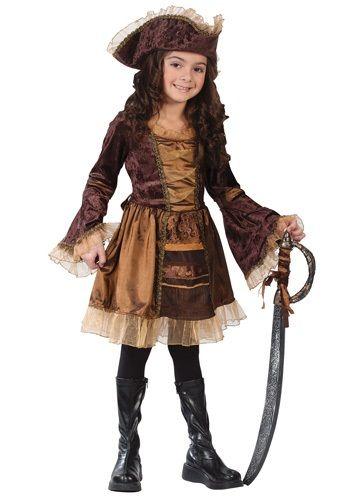 Child Sassy Victorian Pirate Costume - Girls Pirate Costumes
