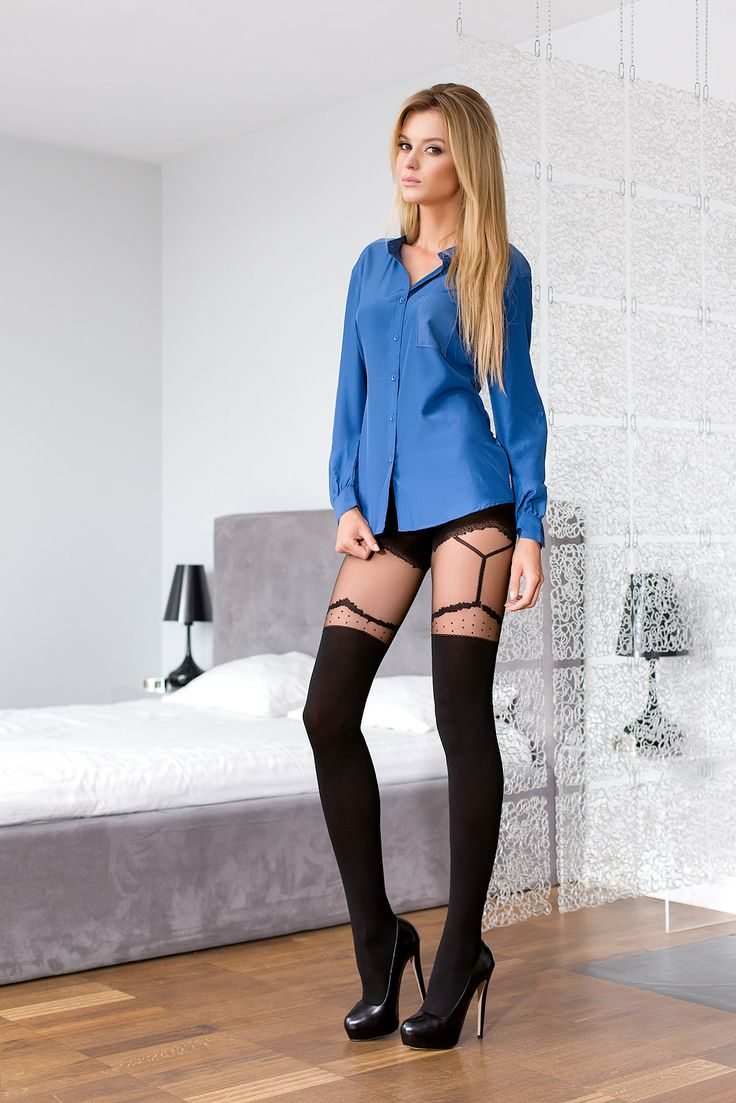 GIULIA 43 #tights #patterned #fashion #legs #legwear #stockingsimitation #black #sexy