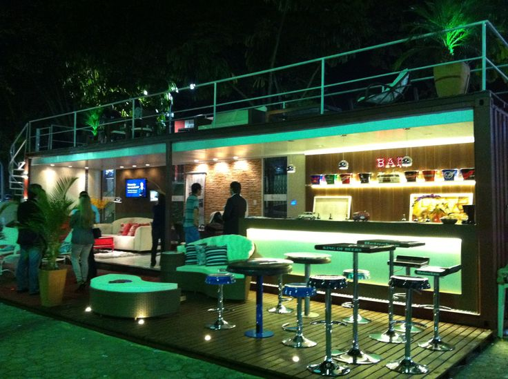 """Decoração para o """"Projeto Container Bar"""", ganhador da categoria """"Inovação"""" na Feira Anual de Negócios de Itatiba 2014."""