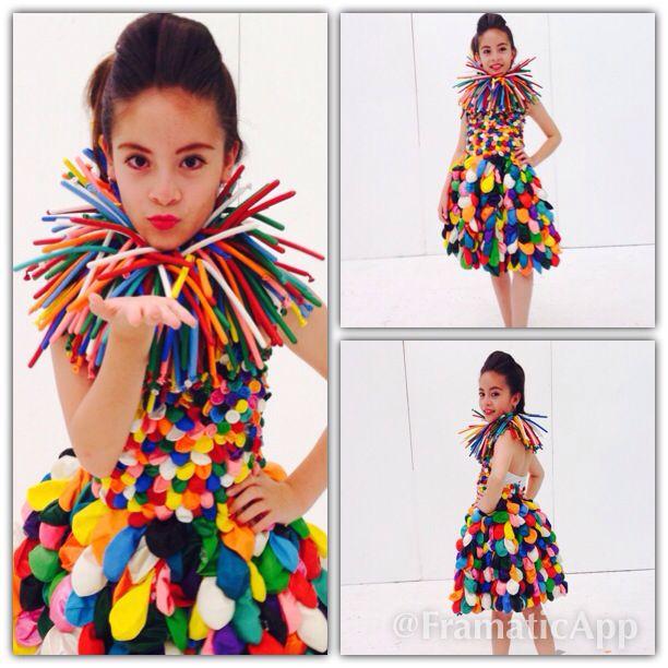 Modelo: KIM Muñoz Vestido de globos by: Katty V/Cata D.