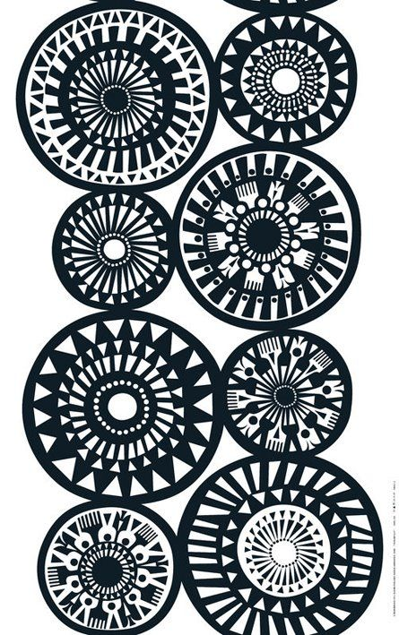 Marimekko - such a graphic quality in black and white