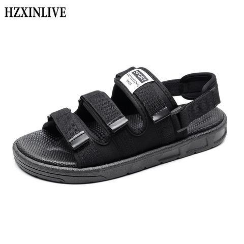 HZXINLIVE 2019 Women Flat Sandals Shoes Ladies Beach Slippers Summer Slingback Sandals Flipflops Shoes Plus Size11 Lover Shoes