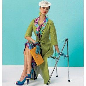 Vogue 8875 vintage jurk en jas