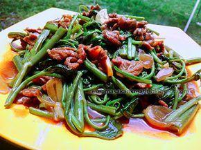 Resep Tumis Kangkung Cah Daging Sapi   Resep Masakan Indonesia (Indonesian Food Recipe)