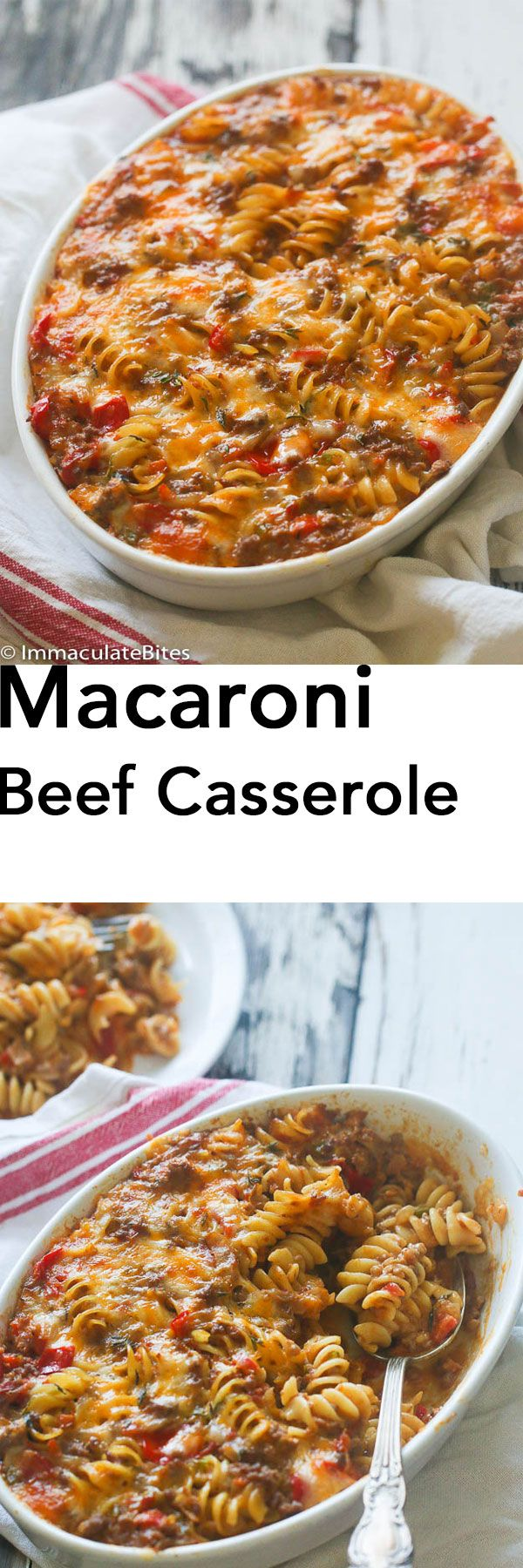 Easy Macaroni Beef Casserole made with an aromatic blend of spices , beef , tomatoes and some good old cheese. A great meal that the whole family would enjoy. S