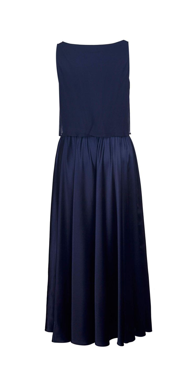 Silk Midnight Blue Dress on TROVEA.COM