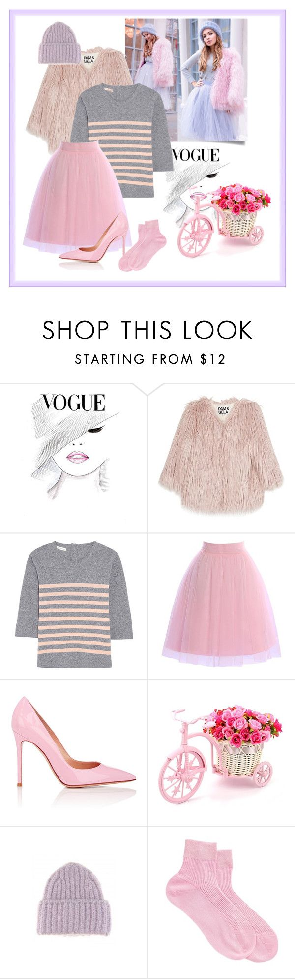 """""""Who is there?"""" by teddy-oconner ❤ liked on Polyvore featuring Pam & Gela, Chinti and Parker, Gianvito Rossi, Acne Studios and Maria La Rosa"""