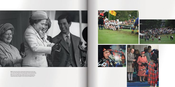 A page about The Highland Games. Designed by Martin Sully. #design #book #luxury #queen #elizabeth