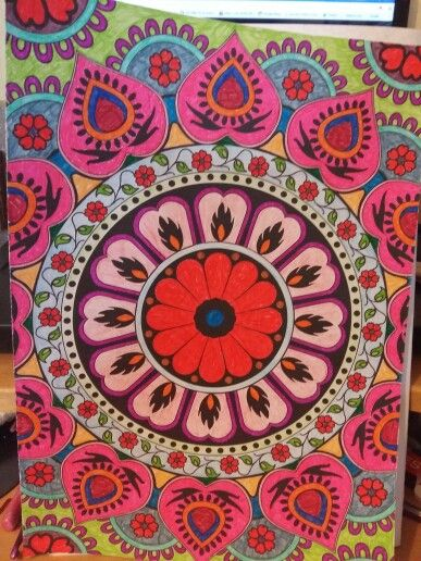 #arttherapymag #colouring  my mandala colouring from the art therapy magazine