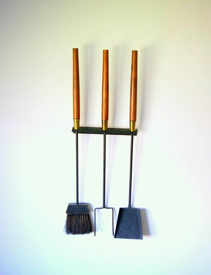 Mid Century Modern Fireplace Tools. $175.00, via Etsy.