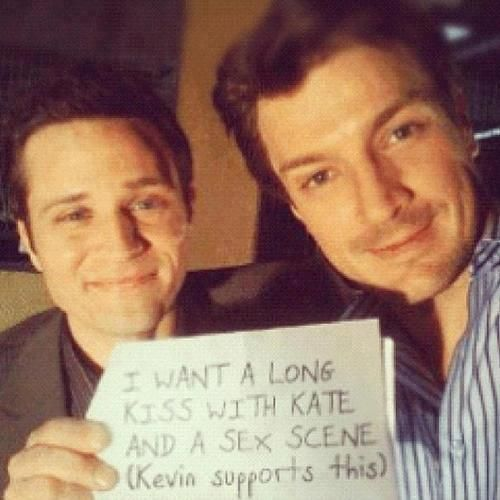 Seamus Dever and Nathan Fillion on Castle