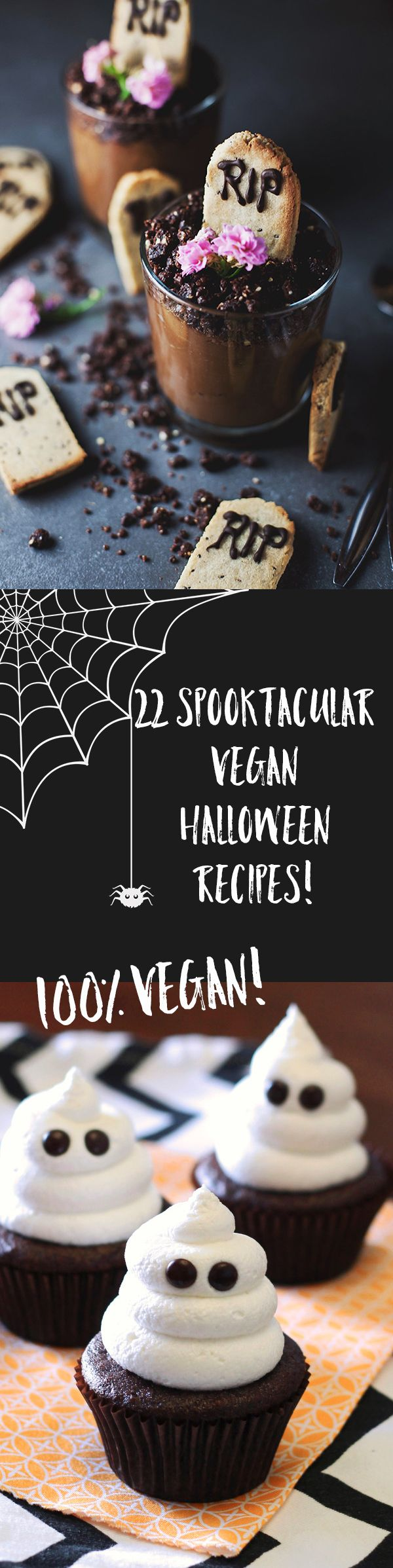 Trick or treat yourself to one of these spooktacular #vegan Halloween recipes!