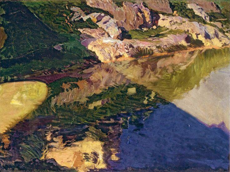 Joaquín Sorolla y Bastida (1863-1923). The Shadow of Alcantara Bridge, Toledo. 1906. Oil on canvas