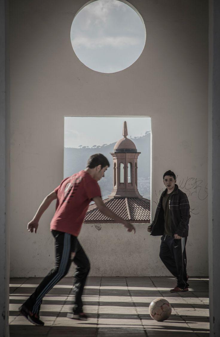 Street football, Spain.