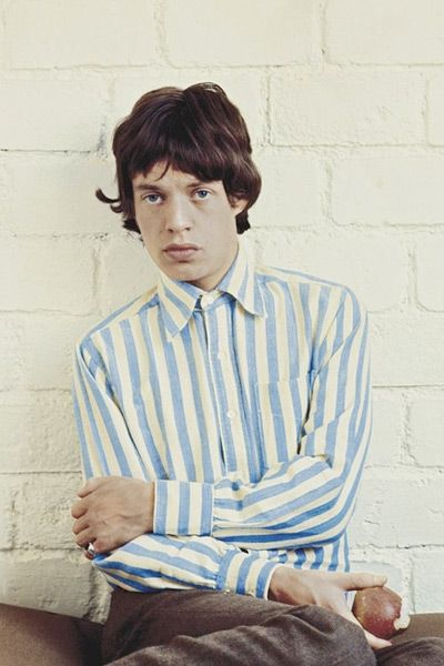 Mick Jagger swag. I have about 3 blue stripe shirt similar to this one. Yet, I still want this one.