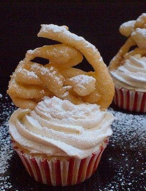 Funnel Cake #Cupcake #Recipe + Chef @emilyellyn!