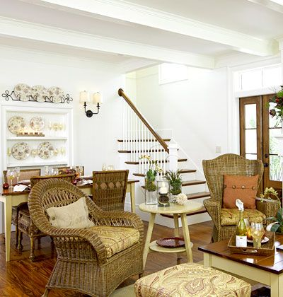 Combining The Dining Room And Living While Keeping A Small Quaint Home