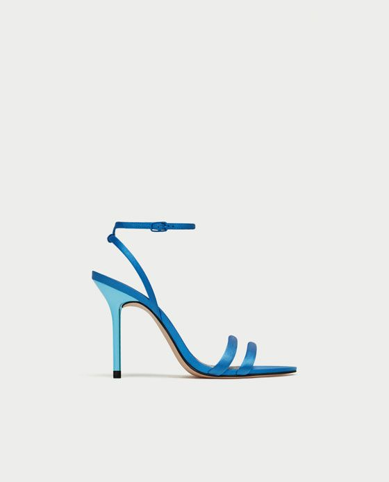 SATIN HIGH HEEL SANDALS-View all-SHOES-WOMAN   ZARA United States