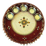 Best 20 diwali pooja ideas on pinterest diwali rangoli for Aarti thali decoration with grains