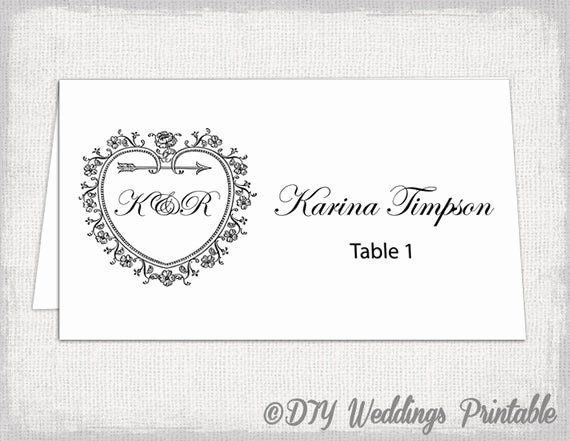 Printable Place Cards Template Elegant Printable Place Card Template Tent Name Card T Printable Place Cards Templates Printable Place Cards Place Card Template