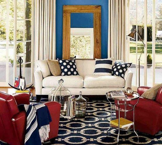 Navy rug living room color ideas navy blue orange - Navy rug living room ...