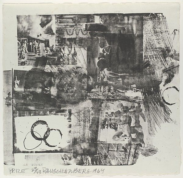 Prize Artist: Robert Rauschenberg (American, Port Arthur, Texas 1925–2008 Captiva Island, Florida) Publisher: Published by Universal Limited Art Editions Date: 1964 Medium: Lithograph Dimensions: sheet: 15 3/4 x 16 in. (40 x 40.6 cm)