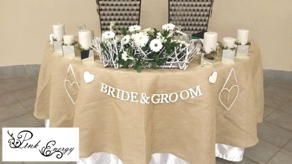 Sweethear table - Floral Design & Decor  by www.pinkenergyfloraldesign.co.za
