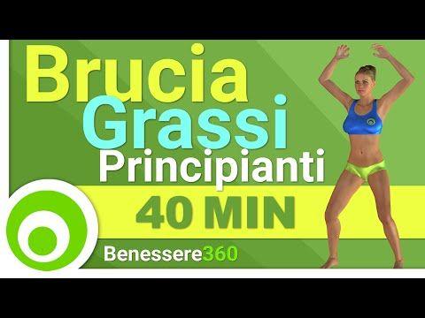 Esercizi Brucia Grassi per Principianti per Dimagrire a Casa - YouTube