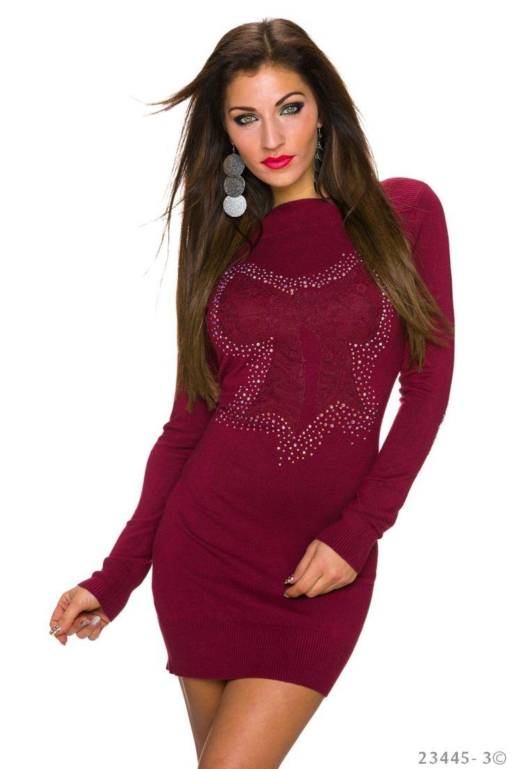 Sparkle Burgundy Dress