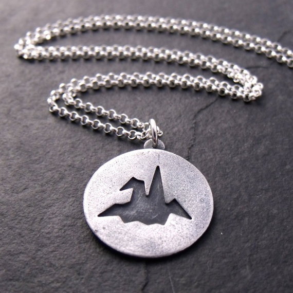 Origami crane necklace by shizendesigns on Etsy, $34.00