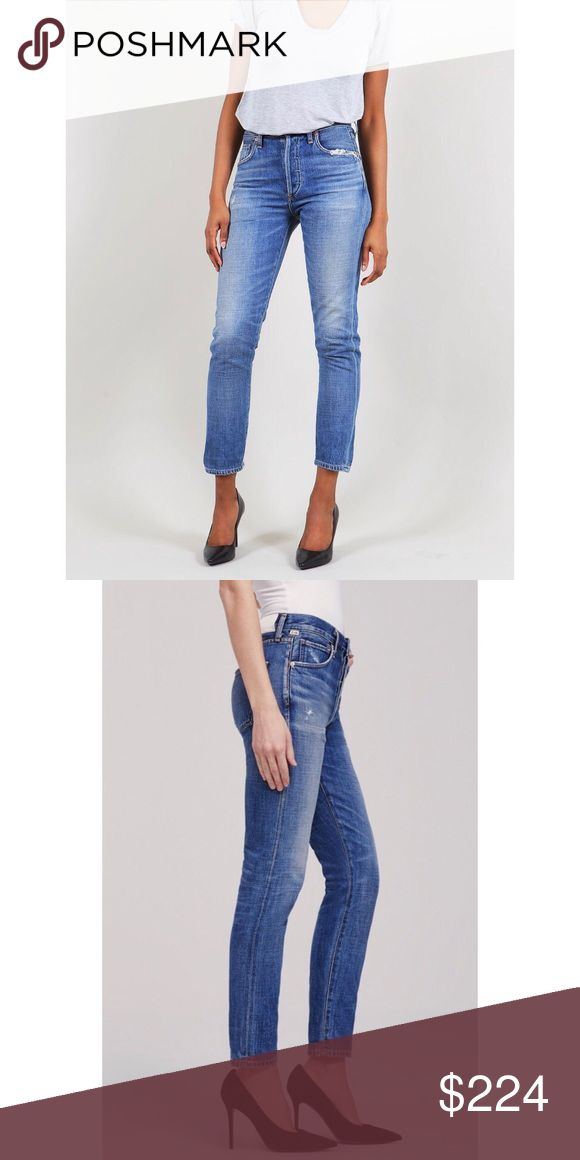 "Citizens of Humanity Liya high rise fade out 25 MOST COVETABLE! Kendall loves them. The style of the moment.   Hasn't been and won't be on sale ;) Get 'em before they are gone. Only one pair here in size 25.  Cool and casual, our Liya Classic jeans have a high waist and straight, lean leg. Roll up the cuffs and pair with loafers and short sleeves for a tomboyish 1950s look.  High Rise Classic Fit; Rise: 11 1/4 Inseam: 29"" Leg Opening: 13"" Citizens of Humanity Jeans Straight Leg"