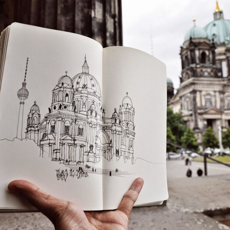 Berlin Cathedral, Germany by Urban Sketchers