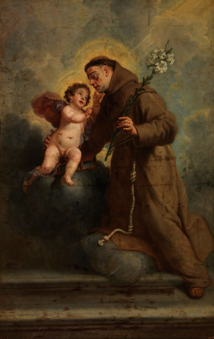 Saint Anthony of Padua with the Infant Christ / San Antonio de Padua con el Niño Jesús // Ca. 1655 // Gaspar de Crayer