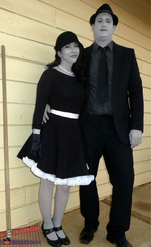 Greyscale 1950u0026#39;s Couple Costume | Gone with the wind Homemade and Halloween costumes