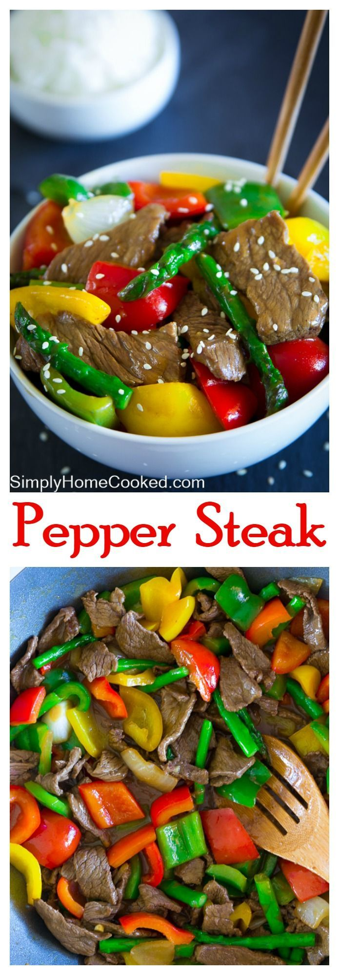 Pepper Steak - Quick and easy pepper steak can be made in less than 30 minutes. | Simply Home Cooked