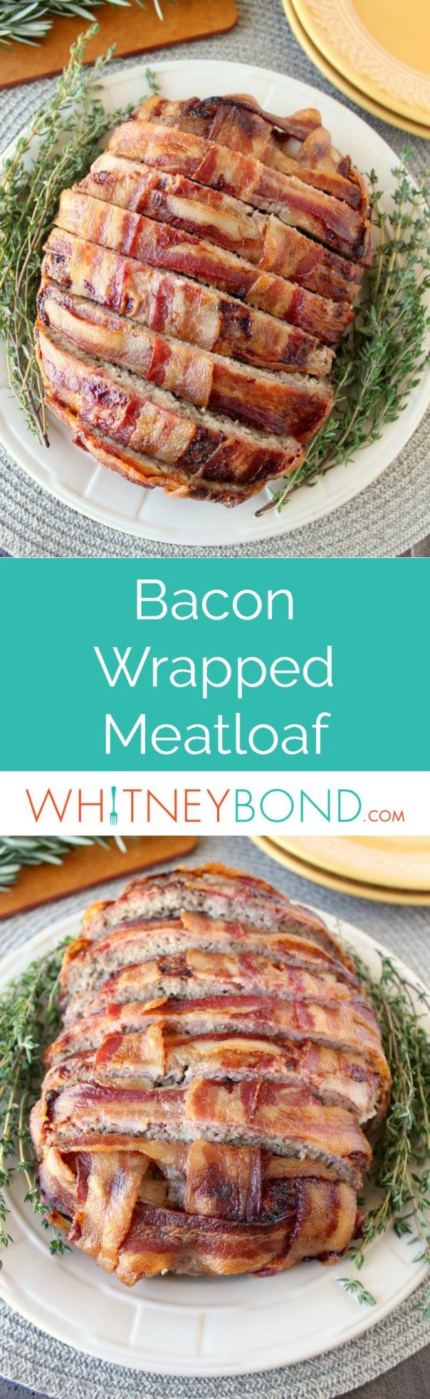 This Bacon Wrapped Meatloaf recipe is easy enough to cook up for weeknight dinners, but also impressive enough for a dinner party!