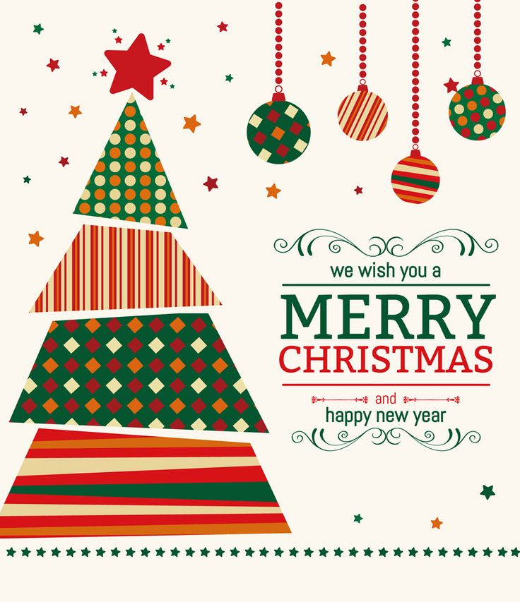 [フリーイラスト素材] イラスト, クリスマス, 12月, 行事 / イベント, クリスマスツリー, 飾り玉, メリークリスマス, テキスト, AI ID:201410280300