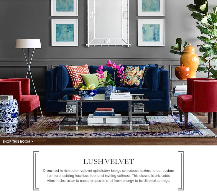 Velvet Is Trending This Season, Even In Furniture! What A Great Way To Wake  Up A Living Room Space