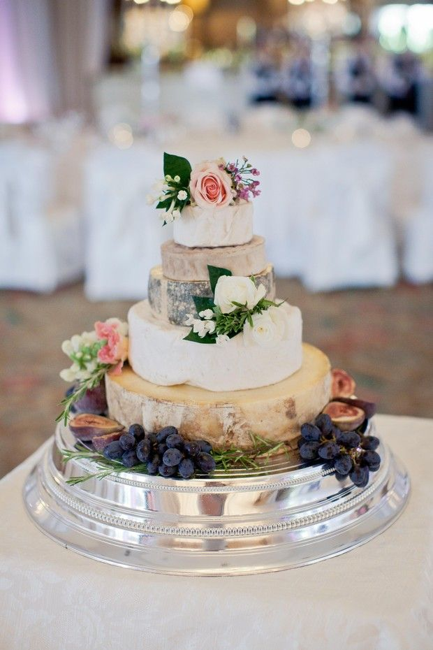 Cheese wheel wedding cake - classic French style in Ireland. Sheridans Cheesemongers.