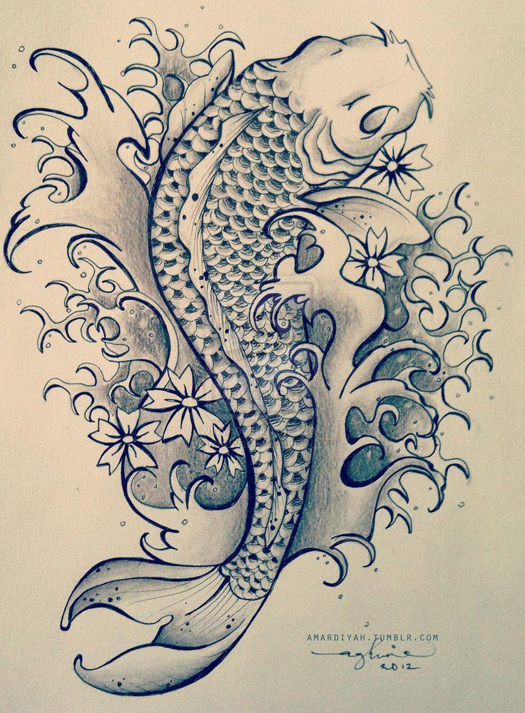 Koi Tattoo Flash | koi fish tattoo by mardiyaha designs interfaces tattoo design 2012 ...