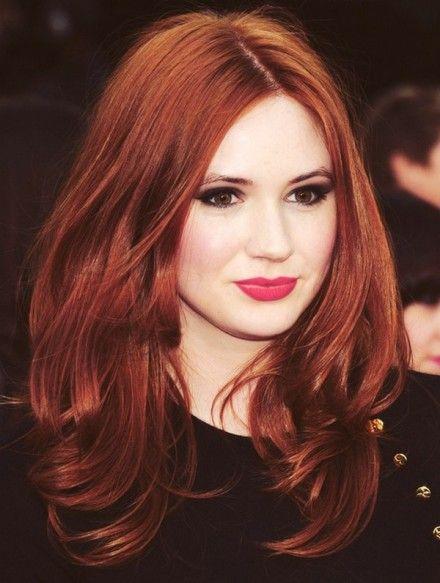 Couleur de cheveux rouge flamboyant