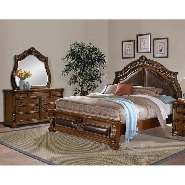 Bedroom Furniture Morocco 5 Piece Queen Upholstered Bedroom Set