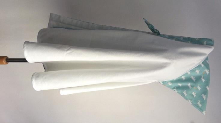 Manto - mantello da bagno - Verde acqua coniglietti