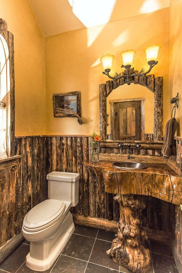 Rustic Bathroom Artist: Adam Hurlbut Rustique Furniture In Running Springs,  CA