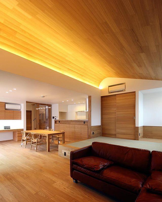 ■haus-slou■ #建築家 #建築 #住宅 #新築 #設計 #デザイン #リビング #ダイニング #キッチン #畳 #間接照明 #architect #architecture #interior #build #design #livingroom #diningroom #kitchen #japanesestyle #tatami #haus #house #housedesign #homedesign #一級建築士事務所haus #hausslou