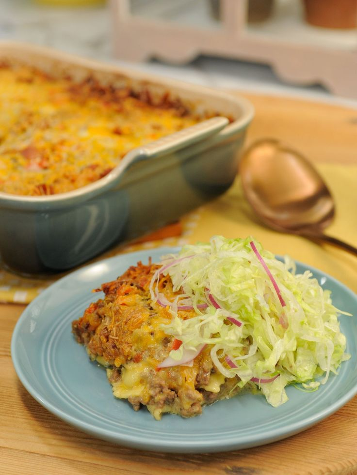 Sunny's Bacon Cheeseburger Casserole recipe from Sunny Anderson via Food Network