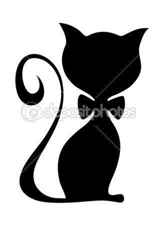 Vector Illustration Of Male Cat Katzen Silhouette Schattenbilder Katzen Kunst