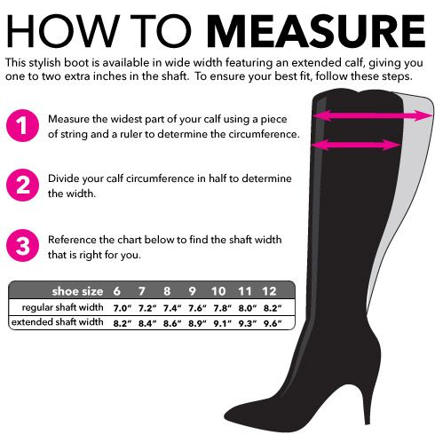 How To Measure for wide calf boots