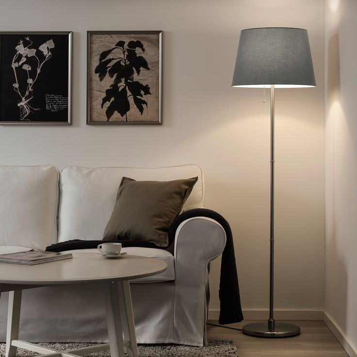 IKEA JARA Gray Lamp shade in 2020 Floor lamp, Floor lamp